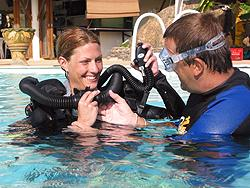 Rebreather training at the Similans