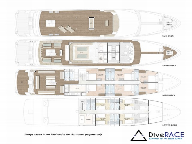 Diverace Similan Island Liveaboard Layout