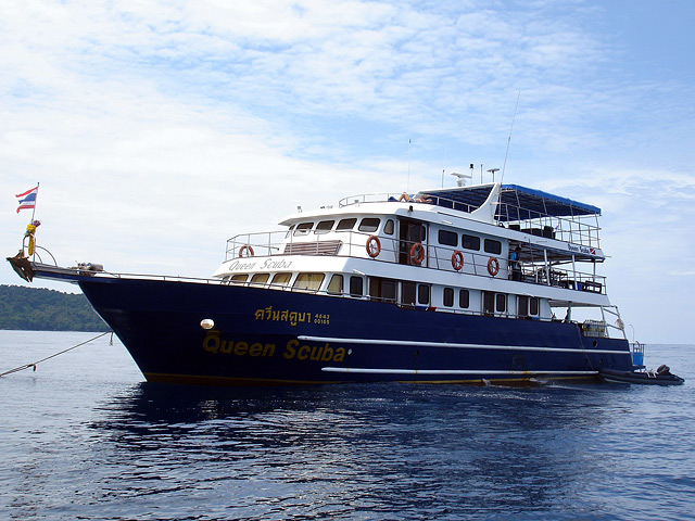 Deep Andaman Queen from the Left front at the Similan Islands