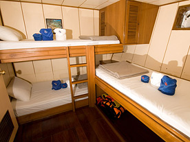 Deep Andaman Queen Similan Islands Liveaboard Standard Triple Cabin