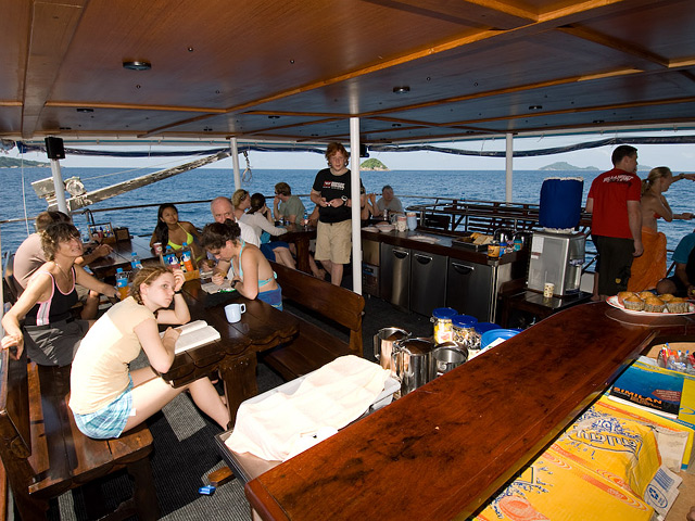 Deep Andaman Queen Similan Island Liveaboard Outside seating area