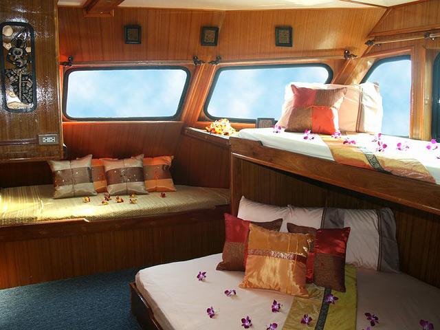 M/V Andaman Tritan Similan Islands Liveaboard Master Cabin