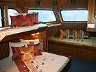 Andaman Tritan's Master Kabine kann wahlweise als Doppelbett oder Einzelbettkabine mit eigenem Bad verwendet werden
